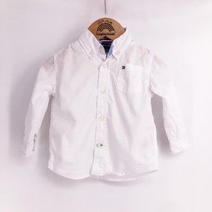 Boys shirt Tommy Hilfiger white button down shirt